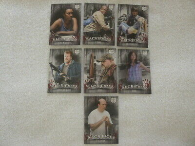 Walking Dead Hunters &The Hunted Sacrifices 7 Card Chase Set Target Exclusive