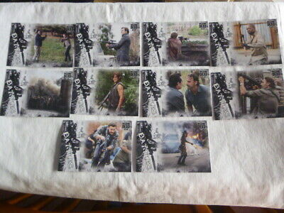 Walking Dead Hunters &The Hunted Epic Battles 10 Chase Cards from 11 card set