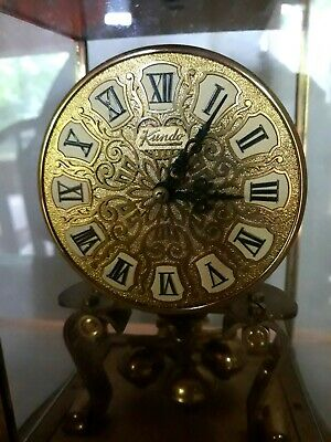Vintage Kundo Anniversary Clock Brass Refurbished Key Made in West Germany