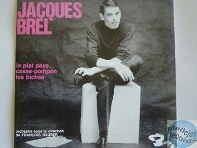 JACQUES BREL LE PLAT PAYS CD SINGLE EP ed numerotee 53