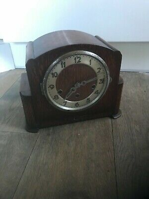 Antique Art Deco mantle clock fully working