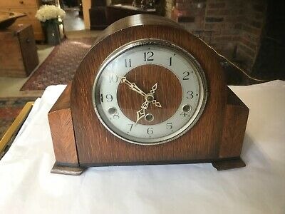 Antique Art Deco Enfield Westminster chime mantle clock fully working