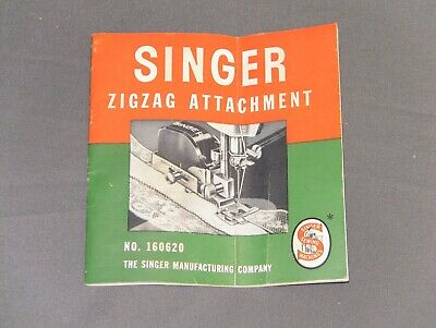 Vintage ZIG ZAG Singer Sewing Machine Attachment No. 160620 MANUAL ONLY