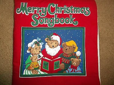 Merry Christmas Songbook Fabric Silent Night Away in the Manger Jingle Bells  ++