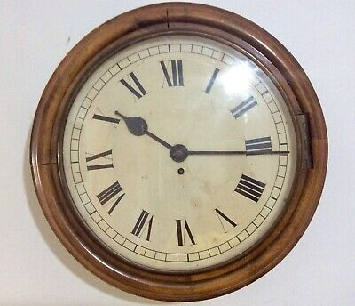 A Large, Rare 47CM Walnut Chain driven Fusee, School/Railway Dial Clock