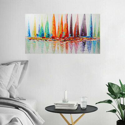 Abstract Hand-painted Art Oil Painting Wall Decor Canvas - Framed Set Sail