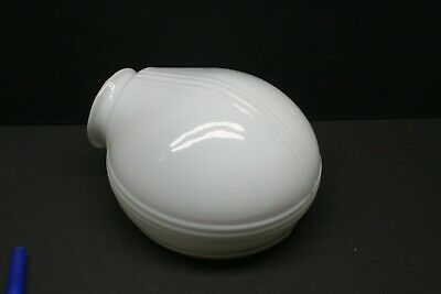 Vintage Art Deco Bathroom Light Shade Only Milk Glass for Antique Fixture #4