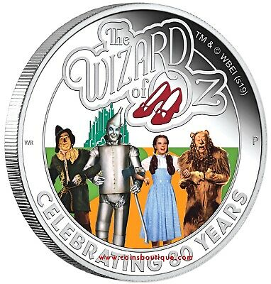 The Wizard of Oz 80th Anniversary 1oz Silver Proof Coin Tuvalu 2019 first releas