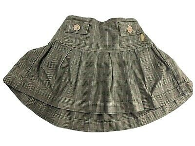 Baby Gap girls beige plaid skirt with matching bloomers size 12-18 Months- VGUC