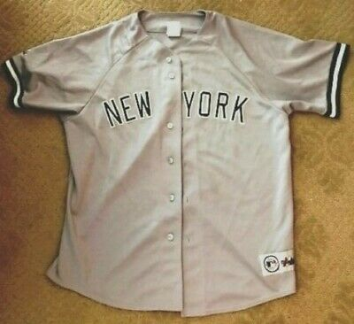 c9ba445b457 MEN S MLB NEW York Yankees Button Down Jersey Green Size Large True ...