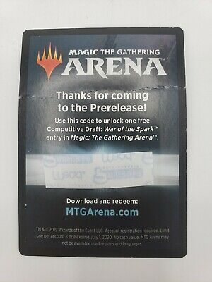 MTG Arena War Of The Spark Prerelease Code Free Competitive Draft - Email Only