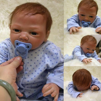 "46cm/18"" Lifelike Reborn Baby Girl Boy Doll Handmade Vinyl Newborn Dolls+Clothes"