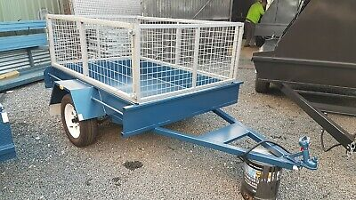 6x4 BOX TRAILER AND CAGE.