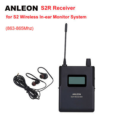 ANLEON S2-R Receiver For Stereo Wireless Stage System Monitor IEM UHF 863-865Mhz