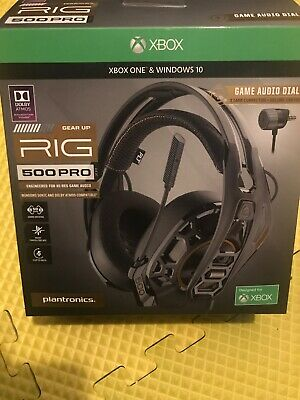Plantronics - RIG 500 PRO HX Gaming Headset for Xbox One - Black - New Open Box