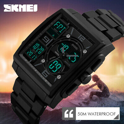 Fashion Men Military Tactical Digital Analog Sport Date Quartz Shock Wrist Watch
