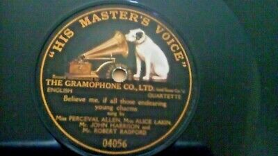 Antique gramophone record.Believe me by miss p Allen