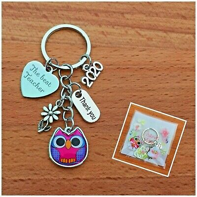 GIFT FOR TEACHER -Teacher, Teaching assistant, Nursery teacher Owl Keyring 2019