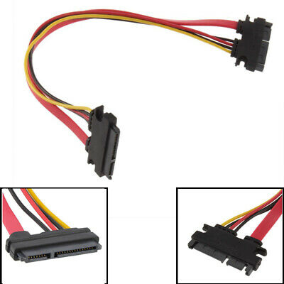 12/'/' Male to Female 7+15 Pin SATA Data HDD Power Combo Extend Extension Cable VG