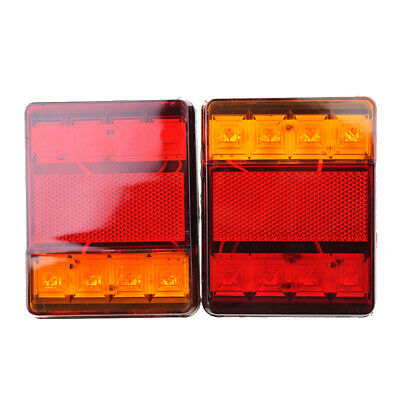 1 Pair DC12V Trucks Cars  Trailers Rear Stop LED Lights Tail Indicator Lamps New