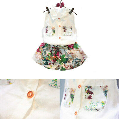 Girls Clothes T-Shirt Tops+Short Pants Kids Baby Toddler Casual Outfits 2PCS IKK