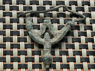 Ancient Byzantine Medieval Bronze Earring 500-600 Ad Very Rare