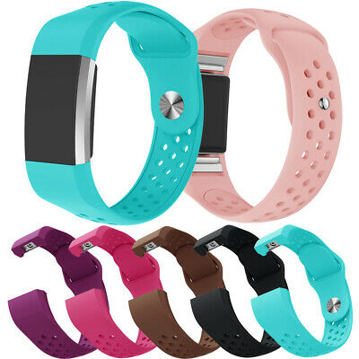 Replacement Silicone Wrist Bracelet Band Strap for Fitbit Charge 2/HR Watch UK