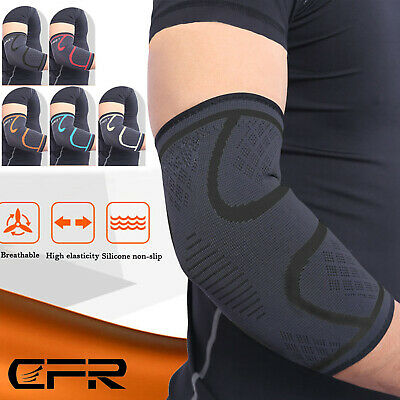 Elbow Support Brace Compression Arm Sleeves Copper Infused Joint Pain Relief AU