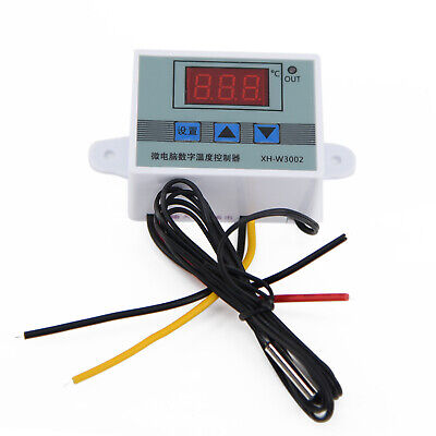 Digital Temperature Controller LED Thermostat Switch With Probe NTC10K Power