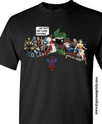 Jesus And Superheroes Thats How I Saved The World Christian Funny T-Shirt