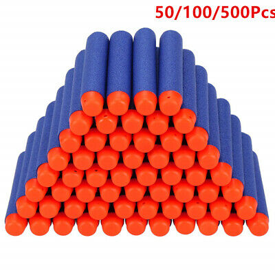 Nerf Gun Bullets Darts for N-strike Elite guns Round Head Blaster 7.2cm UK Stock