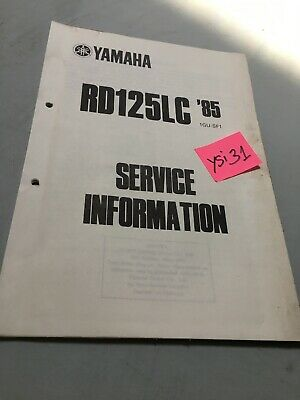 Yamaha RD125LC 1985 RDLC 125 service information technique data moto