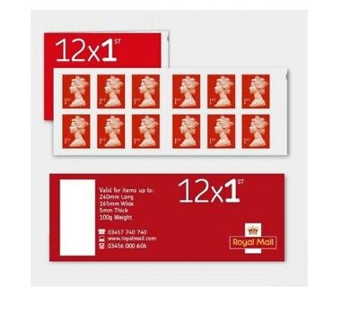 36 Royal Mail 1st Class Stamps 3 Books Of 12 Self Adhesive Brand New Free P&P