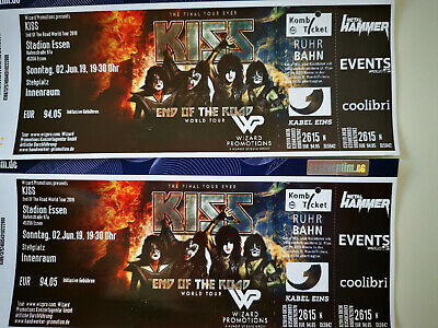 KISS - 2.6. in Essen, 2 Tickets Innenraum