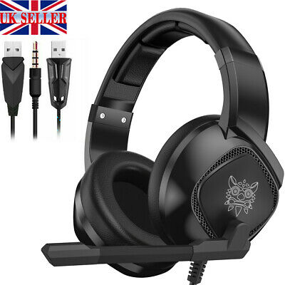 ONIKUMA K19 Mic Gaming Headset Bass Stereo Headphones for PC PS4 Xbox One Switch