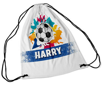 Personalised Drawstring Bag Any Name Football Swimming School Nursery PE