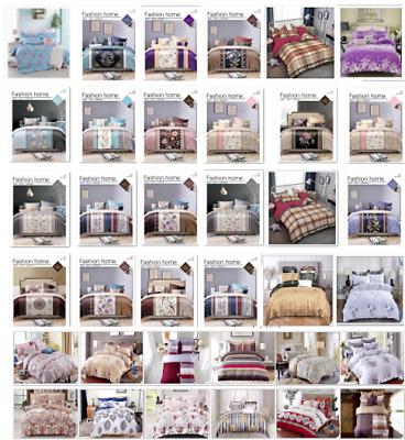 Duvet Cover Sets With Pillow Cases Poly Cotton Quilt Cover Bedding Sets All Size