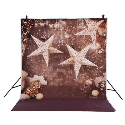 Andoer 1.5 * 2m Photography Background Backdrop Christmas Gift Star Pattern R5K6