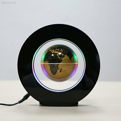 B166 Decoration 4.0 Inch Office Magnetic Levitation Globe Gold Floating