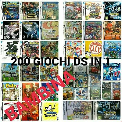 200 Giochi Ds Per Bambina Nintendo New 2Ds Xl- 3Ds Xl- 3Ds - 2Ds - Nds - Ndsi Xl