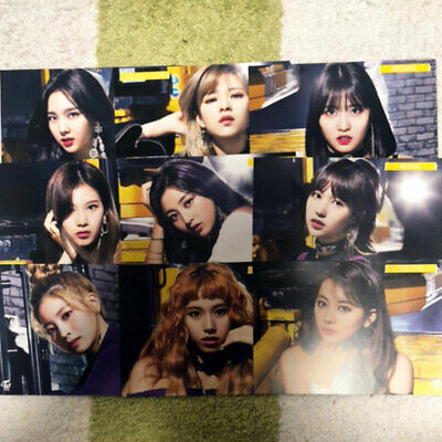 """TWICE """" BDZ """" Tower Record Limited Photo Card Flyer 9 Set ALL Member Complete"""