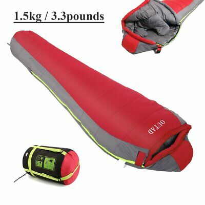 4 Season Waterproof Sleeping Bag Single Person Camping Hiking Case Envelope CA
