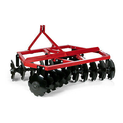 Category 1 3 Point Notched Disc Harrow Plow For Kubota New Holland Tractors | 4'