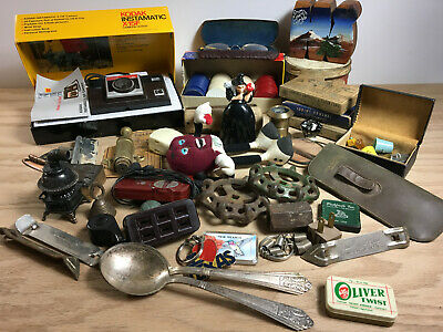 Large Vintage Miscellaneous Odd & Ends Junk Drawer Lot A