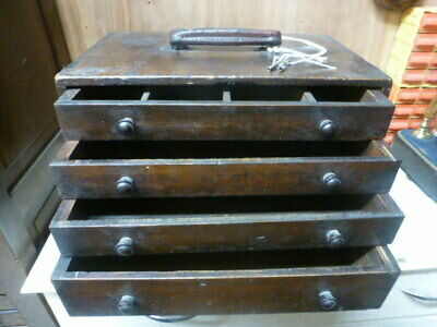 Old clock watch repairers portable tool box
