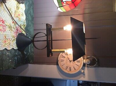 Colonial style black lamp