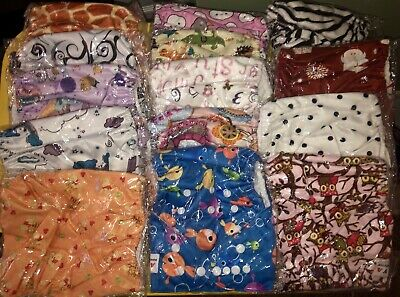 Lot Cloth Diapers Covers Inserts Charcoal Bamboo Hemp Baby Reusable Girl Boy Uni