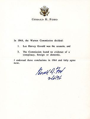 Gerald R. Ford-Superb Letter re: Lee Harvey Oswald and the Kennedy Assassination