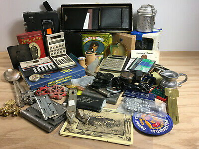 Large Vintage Miscellaneous Odd & Ends Junk Drawer Lot B & Marbles