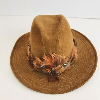 c2aacb084 VINTAGE MEN'S LEVI Strauss Tan Cowboy Hat Size 7 1/8 Medium 57cm ...